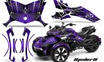 Can Am Spyder F3 CreatorX Graphics Kit SpiderX Purple 150x90 - Can-Am Spyder F3 Graphics