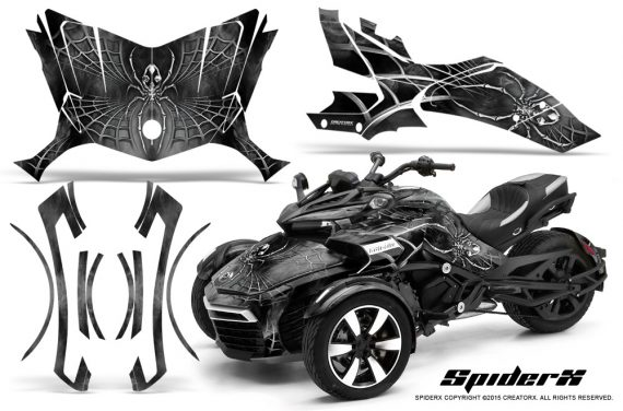 Can-Am-Spyder-F3-CreatorX-Graphics-Kit-SpiderX-Silver