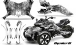 Can Am Spyder F3 CreatorX Graphics Kit SpiderX White 150x90 - Can-Am Spyder F3 Graphics