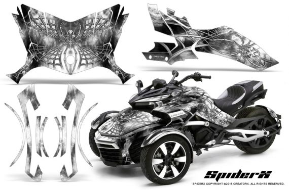 Can-Am-Spyder-F3-CreatorX-Graphics-Kit-SpiderX-White