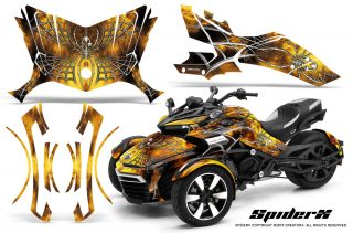 Can Am Spyder F3 CreatorX Graphics Kit SpiderX Yellow 320x211 - Can-Am Spyder F3 Graphics