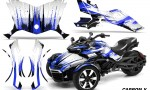 Can Am Spyder F3 Wrap Graphic Kit Carbon X Blue 150x90 - Can-Am Spyder F3 Graphics