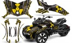 Can Am Spyder F3 Wrap Graphic Kit Meltdown YB 150x90 - Can-Am Spyder F3 Graphics