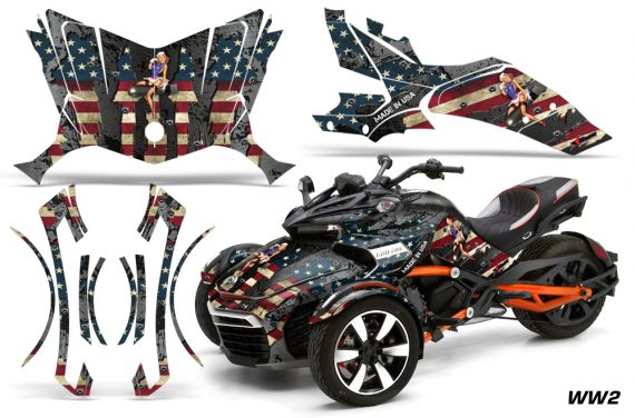 Can Am Spyder F3 Wrap Graphic Kit WW2 570x376 - Can-Am Spyder F3 Graphics