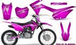 Honda CRF 125F CreatorX Graphic Kit Cold Fusion Pink 150x90 - Honda CRF125F 2014-2018 Graphics