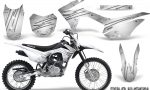 Honda CRF 125F CreatorX Graphic Kit Cold Fusion White 150x90 - Honda CRF125F 2014-2018 Graphics