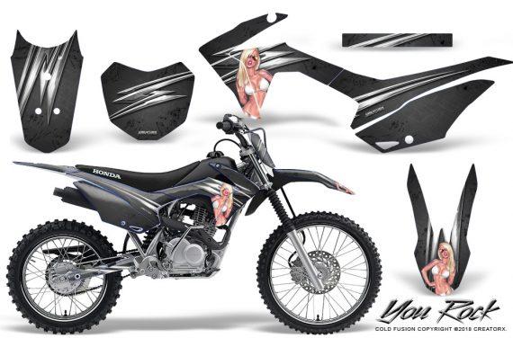 Honda CRF 125F CreatorX Graphic Kit You Rock Black 570x376 - Honda CRF125F 2014-2018 Graphics