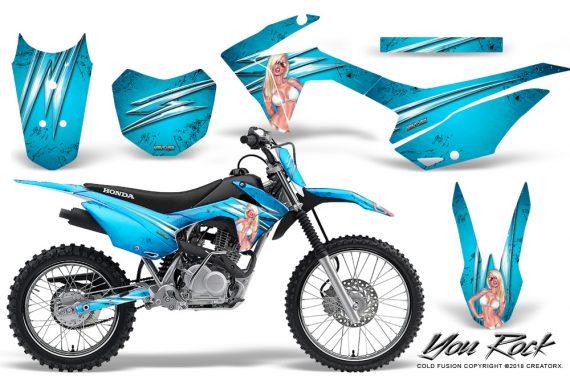 Honda CRF 125F CreatorX Graphic Kit You Rock BlueIce 570x376 - Honda CRF125F 2014-2018 Graphics