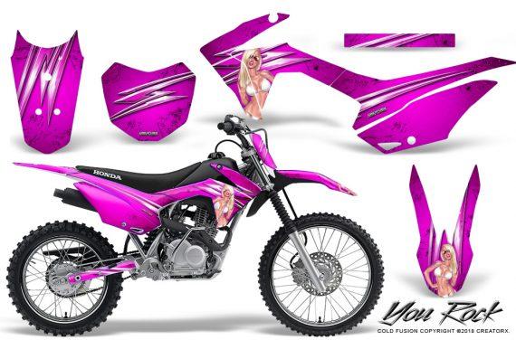 Honda CRF 125F CreatorX Graphic Kit You Rock Pink 570x376 - Honda CRF125F 2014-2018 Graphics