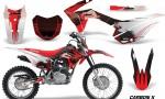 Honda CRF 125F Graphic Kit Carbon X Red 150x90 - Honda CRF125F 2014-2018 Graphics