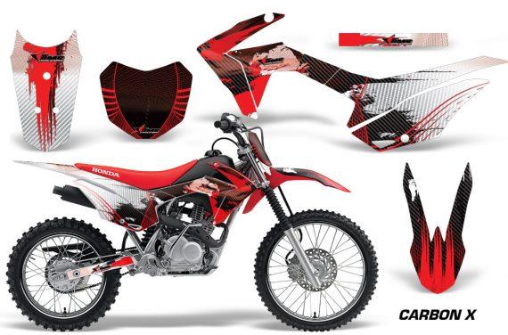 Honda CRF 125F Graphic Kit Carbon X Red 570x376 - Honda CRF125F 2014-2018 Graphics