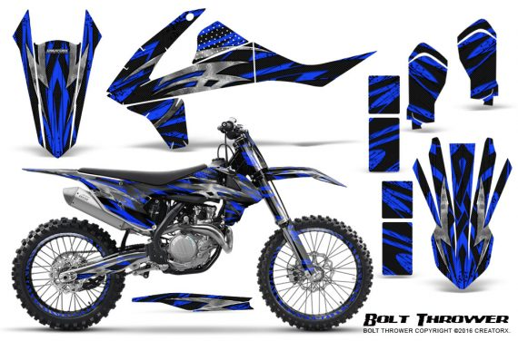 KTM SXF XCF 250 350 450 2016 CreatorX Graphics Kit Bolt Thrower Blue NP Rims 570x376 - KTM C10 SX-F XC-F 250-350-450 SX 125-450 2016+ Graphics