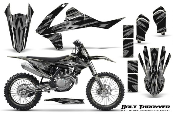 KTM SXF XCF 250 350 450 2016 CreatorX Graphics Kit Bolt Thrower Silver NP Rims 570x376 - KTM C10 SX-F XC-F 250-350-450 SX 125-450 2016+ Graphics