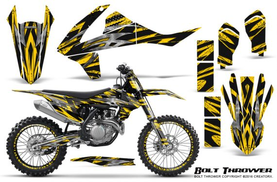 KTM SXF XCF 250 350 450 2016 CreatorX Graphics Kit Bolt Thrower Yellow NP Rims 570x376 - KTM C10 SX-F XC-F 250-350-450 SX 125-450 2016+ Graphics