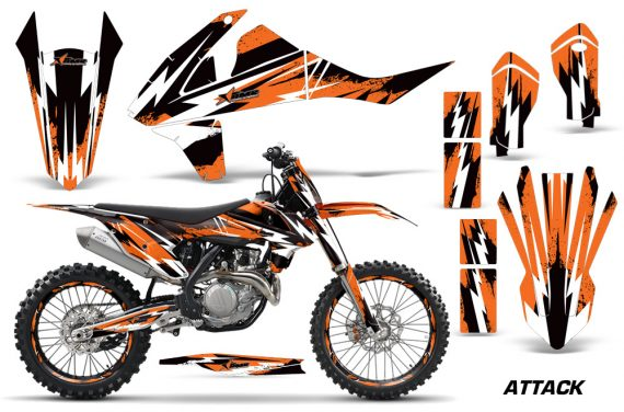 KTM SXF XCF 250 350 450 2016 Graphic Kit Attack O NPs 570x376 - KTM C10 SX-F XC-F 250-350-450 SX 125-450 2016+ Graphics