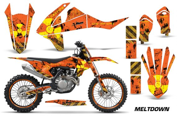 KTM SXF XCF 250 350 450 2016 Graphic Kit Meltdown YO NPS 570x376 - KTM C10 SX-F XC-F 250-350-450 SX 125-450 2016+ Graphics