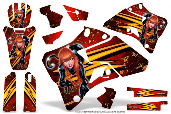 Yamaha YZ 125 250 96 01 Graphics Kit Purrfect Red 570x380 - Yamaha YZ125 YZ250 2 Stroke 1996-2001 Graphics