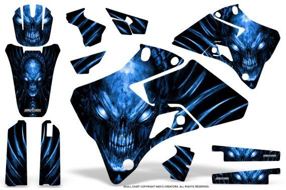 Yamaha YZ 125 250 96 01 Graphics Kit Skull Chief Blue 570x380 - Yamaha YZ125 YZ250 2 Stroke 1996-2001 Graphics