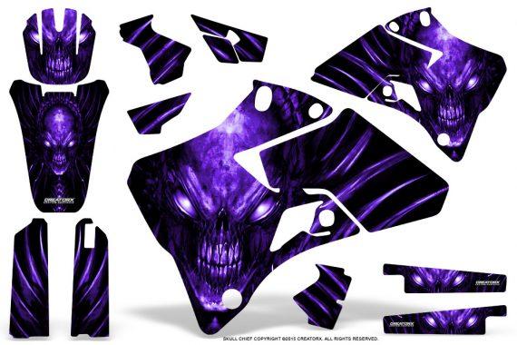 Yamaha YZ 125 250 96 01 Graphics Kit Skull Chief Purple 570x380 - Yamaha YZ125 YZ250 2 Stroke 1996-2001 Graphics