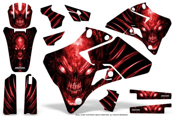 Yamaha YZ 125 250 96 01 Graphics Kit Skull Chief Red 570x380 - Yamaha YZ125 YZ250 2 Stroke 1996-2001 Graphics