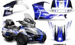 CAN AM SPYDER RT S Graphics Kit Carbon X Blue 150x90 - Can-Am Spyder RTS 2014-2019 Graphics with Trim Kit
