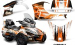 CAN AM SPYDER RT S Graphics Kit Carbon X Orange 150x90 - Can-Am Spyder RTS 2014-2019 Graphics with Trim Kit