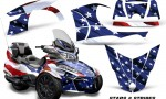 CAN AM SPYDER RT S Graphics Kit Stars Stripes 150x90 - Can-Am Spyder RTS 2014-2019 Graphics with Trim Kit