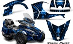 Can Am Spyder RT S 2014 2016 Full Trim Skull Chief Blue 150x90 - Can-Am Spyder RTS 2014-2019 Graphics with Trim Kit