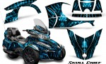 Can Am Spyder RT S 2014 2016 Full Trim Skull Chief BlueIce 150x90 - Can-Am Spyder RTS 2014-2019 Graphics with Trim Kit
