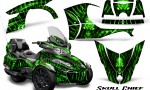 Can Am Spyder RT S 2014 2016 Full Trim Skull Chief Green 150x90 - Can-Am Spyder RTS 2014-2019 Graphics with Trim Kit