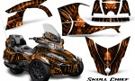 Can Am Spyder RT S 2014 2016 Full Trim Skull Chief Orange 150x90 - Can-Am Spyder RTS 2014-2019 Graphics with Trim Kit
