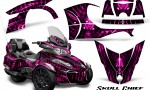 Can Am Spyder RT S 2014 2016 Full Trim Skull Chief Pink 150x90 - Can-Am Spyder RTS 2014-2019 Graphics with Trim Kit