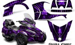 Can Am Spyder RT S 2014 2016 Full Trim Skull Chief Purple 150x90 - Can-Am Spyder RTS 2014-2019 Graphics with Trim Kit