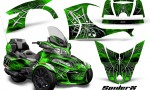 Can Am Spyder RT S 2014 2016 Full Trim SpiderX Green 150x90 - Can-Am Spyder RTS 2014-2019 Graphics with Trim Kit
