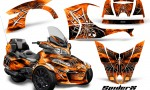 Can Am Spyder RT S 2014 2016 Full Trim SpiderX Orange 1 150x90 - Can-Am Spyder RTS 2014-2019 Graphics with Trim Kit