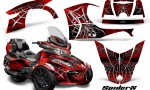 Can Am Spyder RT S 2014 2016 Full Trim SpiderX Red 1 150x90 - Can-Am Spyder RTS 2014-2019 Graphics with Trim Kit
