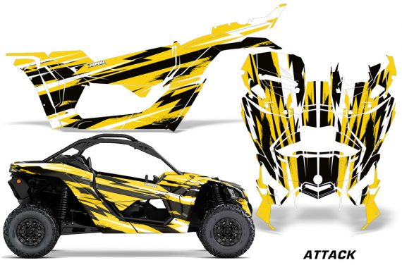 Can-Am-Maverick-X3-Graphics-Kit-Wrap-Attack-Y