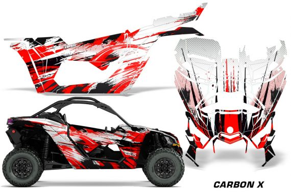 Can-Am-Maverick-X3-Graphics-Kit-Wrap-Carbon-X-R