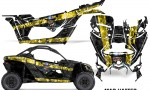 Can Am Maverick X3 Graphics Kit Wrap Mad Hatter YB 150x90 - Can-Am BRP Maverick X3/X DS/ X RS 2016-2021 Graphics