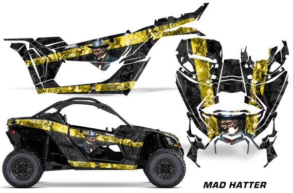 Can-Am-Maverick-X3-Graphics-Kit-Wrap-Mad-Hatter-YB