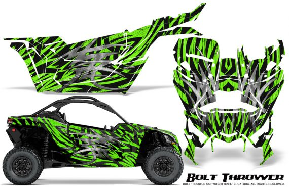 Can-am-Canam-Maverick-X3-CreatorX-Graphics-Kit-Bolt-Thrower-Green