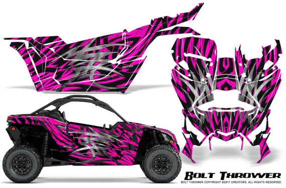 Can-am-Canam-Maverick-X3-CreatorX-Graphics-Kit-Bolt-Thrower-Pink