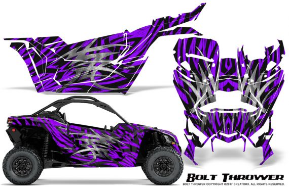 Can-am-Canam-Maverick-X3-CreatorX-Graphics-Kit-Bolt-Thrower-Purple