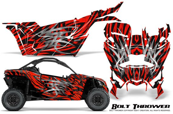 Can-am-Canam-Maverick-X3-CreatorX-Graphics-Kit-Bolt-Thrower-Red