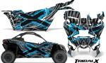 Can am Canam Maverick X3 CreatorX Graphics Kit TribalX Custom BlueIce Silver With Door Insert Rims 150x90 - Can-Am BRP Maverick X3/X DS/ X RS 2016-2021 Graphics