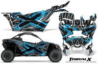 Can-am-Canam-Maverick-X3-CreatorX-Graphics-Kit-TribalX-Custom-BlueIce_Silver-With-Door-Insert_Rims