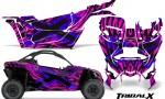 Can am Canam Maverick X3 CreatorX Graphics Kit TribalX Custom Blue Pink With Door Insert Rims 150x90 - Can-Am BRP Maverick X3/X DS/ X RS 2016-2021 Graphics