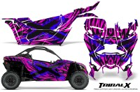 Can-am-Canam-Maverick-X3-CreatorX-Graphics-Kit-TribalX-Custom-Blue_Pink-With-Door-Insert_Rims