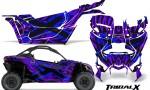 Can am Canam Maverick X3 CreatorX Graphics Kit TribalX Custom Blue Purple With Door Insert Rims 150x90 - Can-Am BRP Maverick X3/X DS/ X RS 2016-2021 Graphics