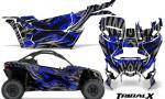 Can am Canam Maverick X3 CreatorX Graphics Kit TribalX Custom Blue Silver With Door Insert Rims 150x90 - Can-Am BRP Maverick X3/X DS/ X RS 2016-2021 Graphics
